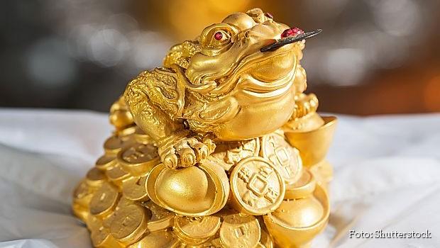 Tronoga žaba simbol feng shui-ja