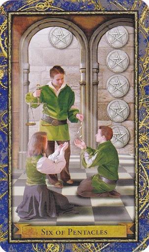 Čarobnjački tarot – 6 diskova (Snaga boje - plaćanje zakašnjelih dugova)