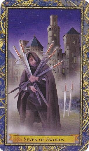 Čarobnjački tarot - 7 mačeva (Snaga čuda)