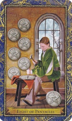 Čarobnjački tarot - 8 diskova (Snaga boje)
