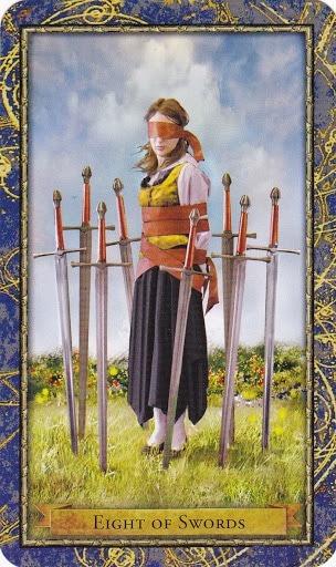 Čarobnjački tarot - 8 mačeva (Snaga čuda)