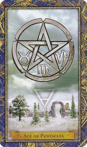 Čarobnjački tarot - As diskova (Snaga čuda)