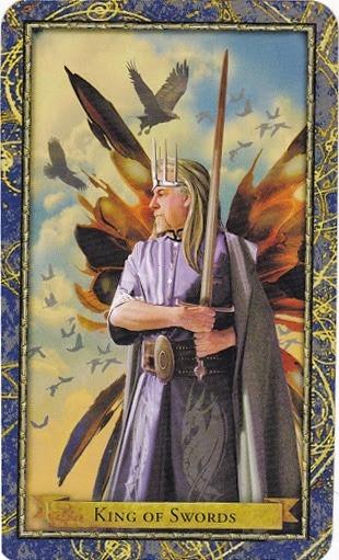 Čarobnjački tarot - Kralj mačeva (Vladar zraka - skrbnik, donator, mentor)
