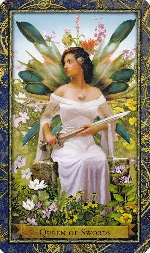 Čarobnjački tarot - Kraljica mačeva (Gospodarica zraka)
