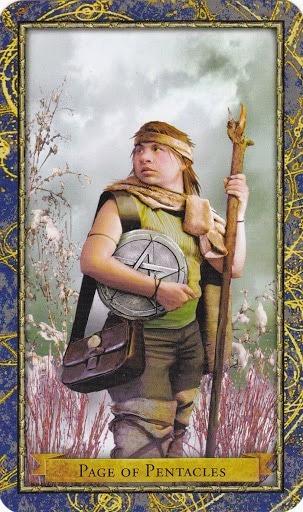 Čarobnjački tarot - Paž diskova (poslanik zemlje - prizemljenje, uzemljenje)