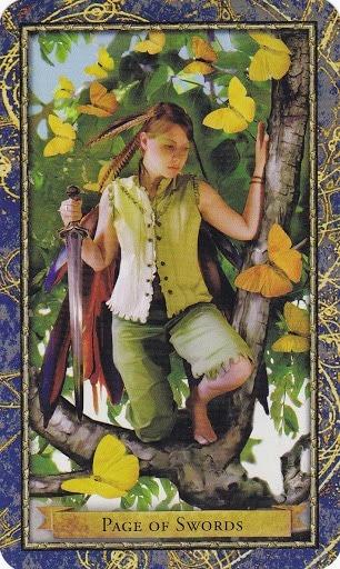 Čarobnjački tarot - Paž mačeva (Poslanik zraka)