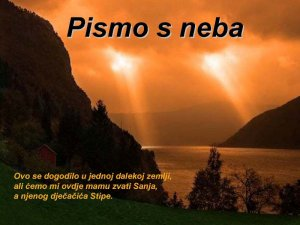 PISMO S NEBA