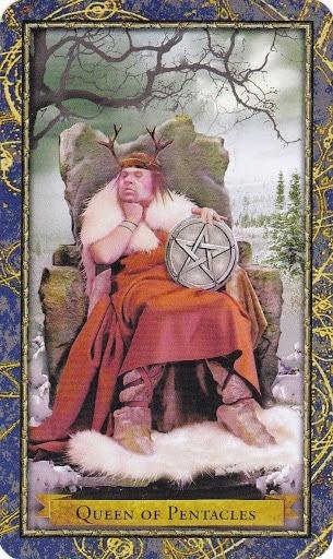 Čarobnjački tarot - Kraljica diskova (Čuvar zemlje)
