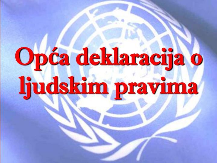 Opća deklaracija o ljudskim pravima