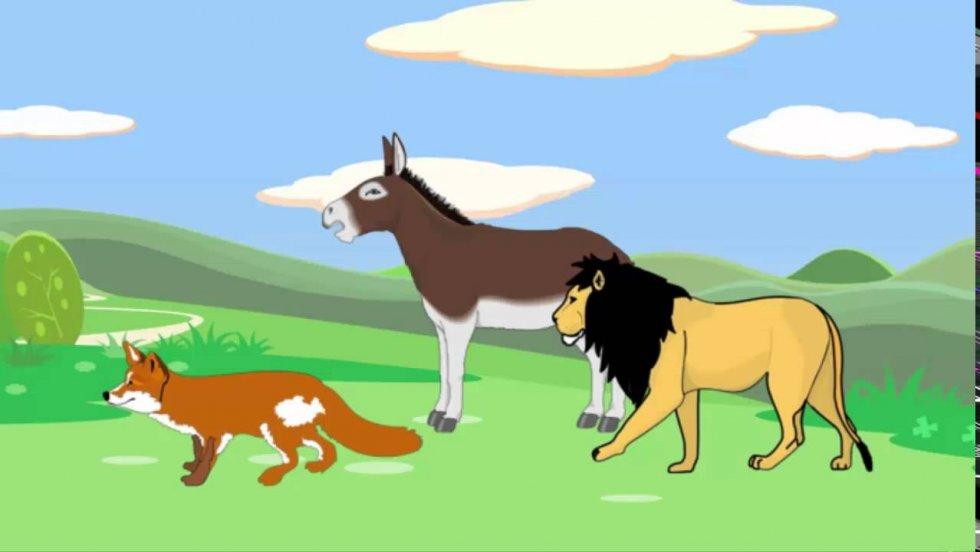 Lav, lisica i magarac