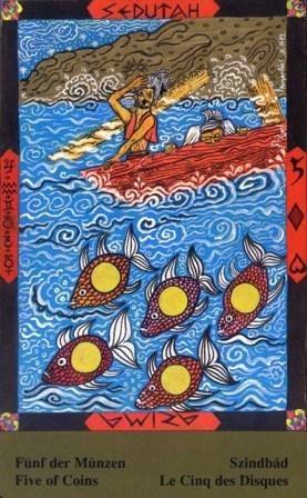 Male arkane u kombinaciji s drugim kartama - PETICA DISKOVA