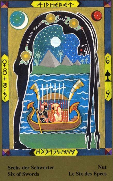 Male arkane u kombinaciji s drugim kartama - ŠESTICA MAČEVA