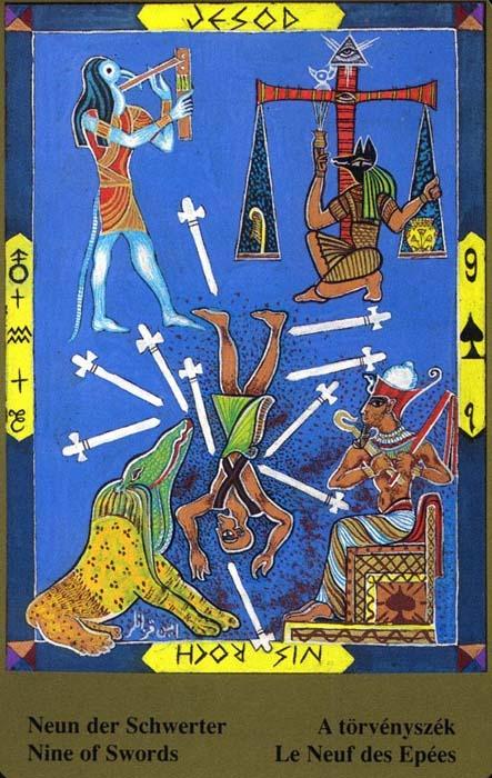 Male arkane u kombinaciji s drugim kartama - DEVETKA MAČEVA