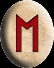 RUNE : MANNAZ (Man), Broj (20.), Slovo (M.)