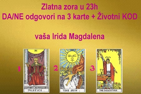 Zlatna zora u 23h: DA/NE odgovori na 3 karte + Životni KOD