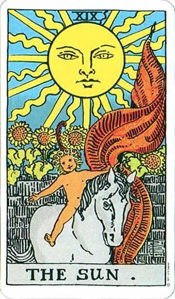TAROT- RAZINE SVIJESTI - Sunce
