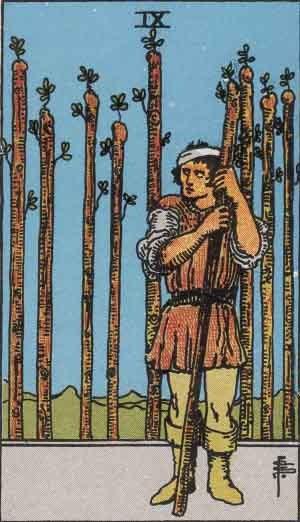 TAROT- RAZINE SVIJESTI - Devetica štapova