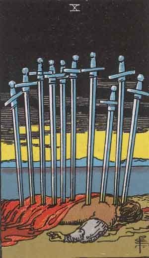 TAROT- RAZINE SVIJESTI - Desetica mačeva