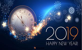 Sretna Nova godina 2019 godina!