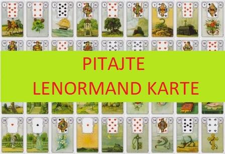 Pitajte Lenormand karte - klikalica; besplatni odgovori