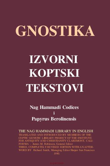 Gnostika - Izvorni Koptski  Tekstovi