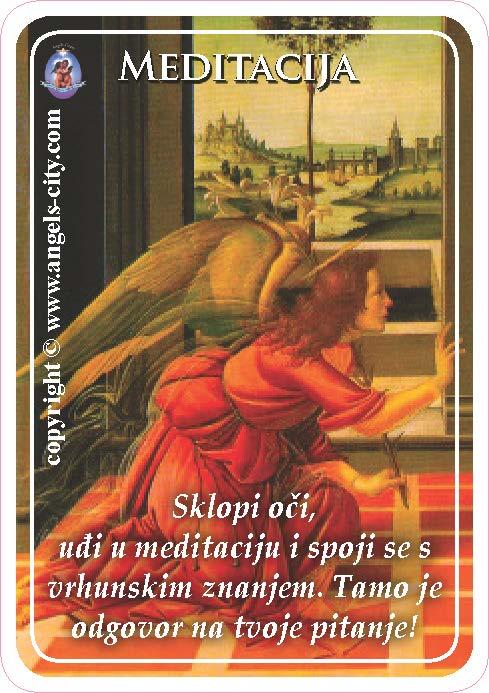 Anđeoski vodič: Anđeoske kartice - Meditacija