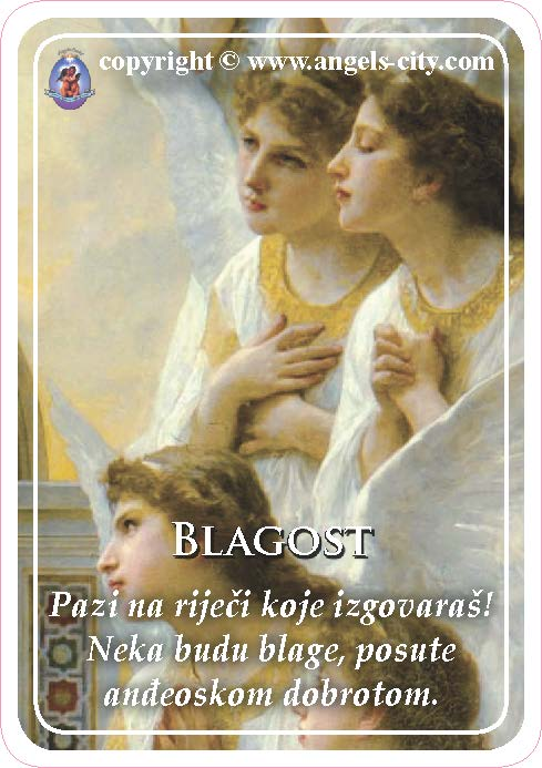 Anđeoski vodič: Anđeoske kartice - Blagost