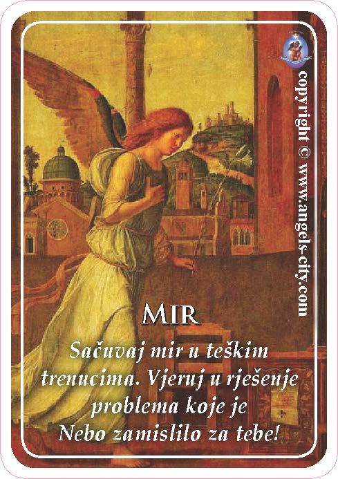Anđeoski vodič: Anđeoske kartice - Mir