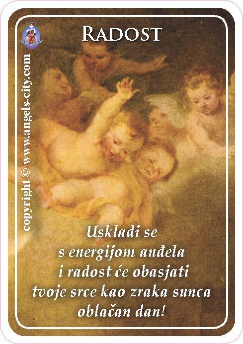 Anđeoski vodič: Anđeoske kartice - Radost