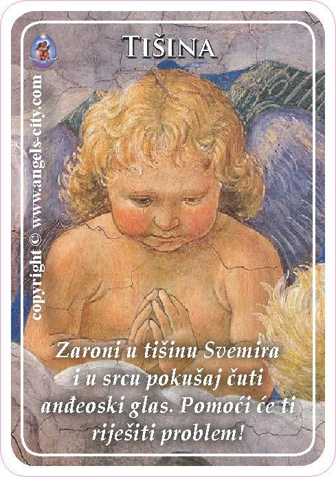 Anđeoski vodič: Anđeoske kartice - Tišina