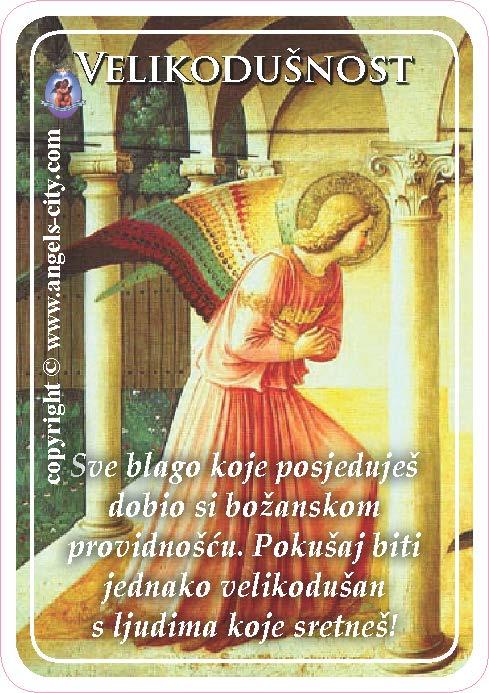 Anđeoski vodič: Anđeoske kartice - Velikodušnost