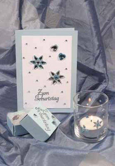 Božićni ukrasi - ČAŠE I ČESTITKE S KRISTALIĆIMA