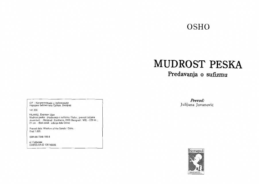 Osho - Mudorst peska: Sufi priče