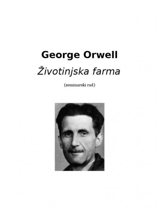 Orwell George - Životinjska farma
