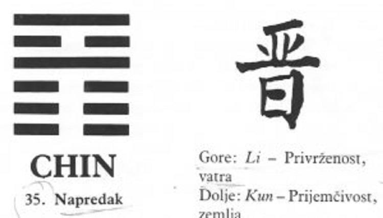 I CHING - 35.CHIN - Napredak