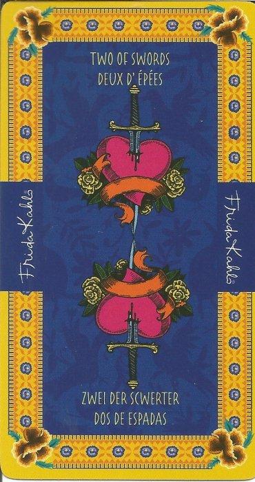 Frida Kahlo Tarot - MALE ARKANE - DVOJKA MAČEVA