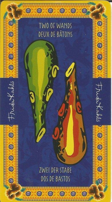 Frida Kahlo Tarot - MALE ARKANE - DVOJKA ŠTAPOVA