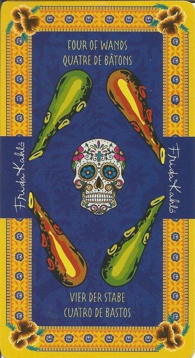 Frida Kahlo Tarot - MALE ARKANE - ČETVORKA ŠTAPOVA