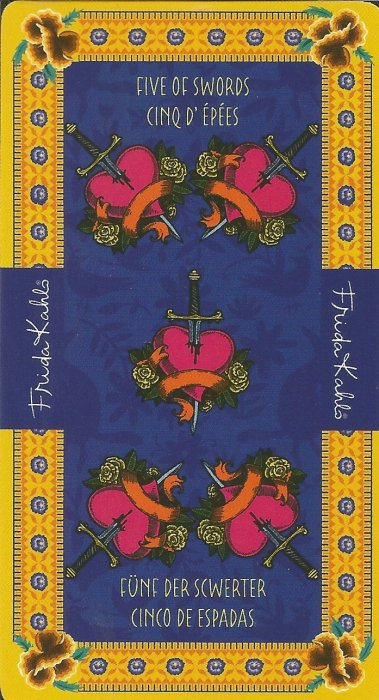 Frida Kahlo Tarot - MALE ARKANE - PETICA MAČEVA