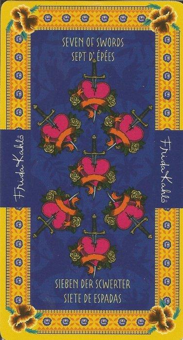 Frida Kahlo Tarot - MALE ARKANE - SEDMICA MAČEVA