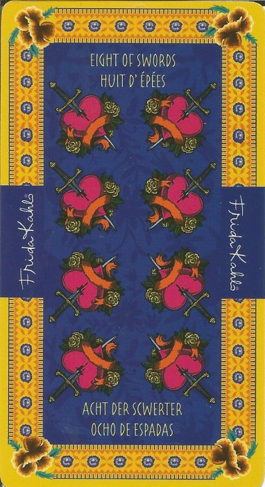 Frida Kahlo Tarot - MALE ARKANE - OSMICA MAČEVA