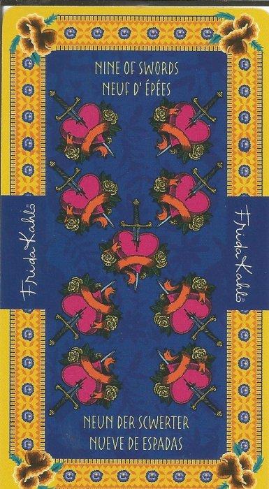 Frida Kahlo Tarot - MALE ARKANE - DEVETKA MAČEVA