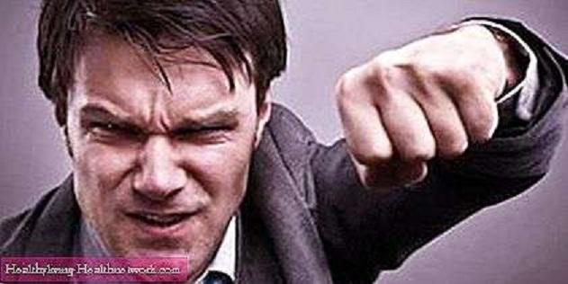 Agresivnost piše na muškom licu