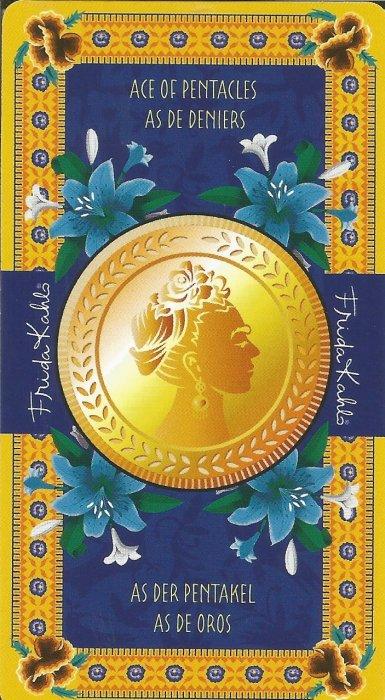 Frida Kahlo Tarot - MALE ARKANE - AS DISKOVA