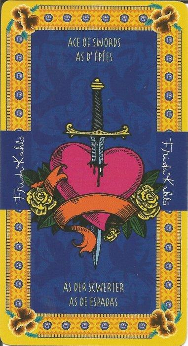 Frida Kahlo Tarot - MALE ARKANE - AS MAČEVA