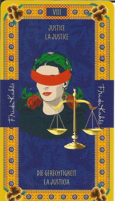 Frida Kahlo Tarot - VELIKE ARKANE - PRAVDA