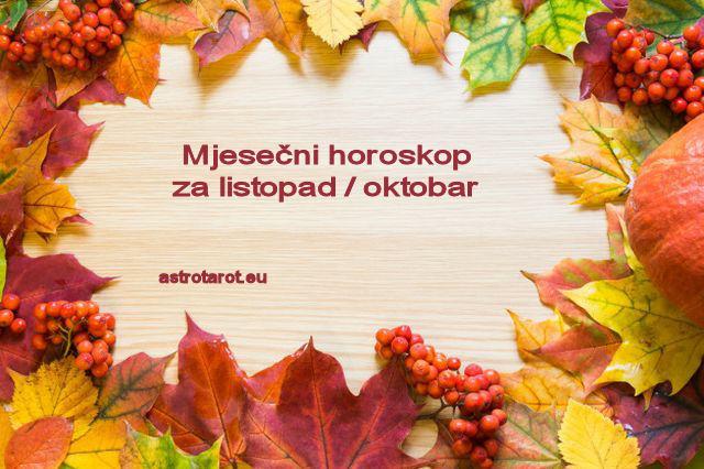 Mjesečni horoskop za listopad / oktobar 2020