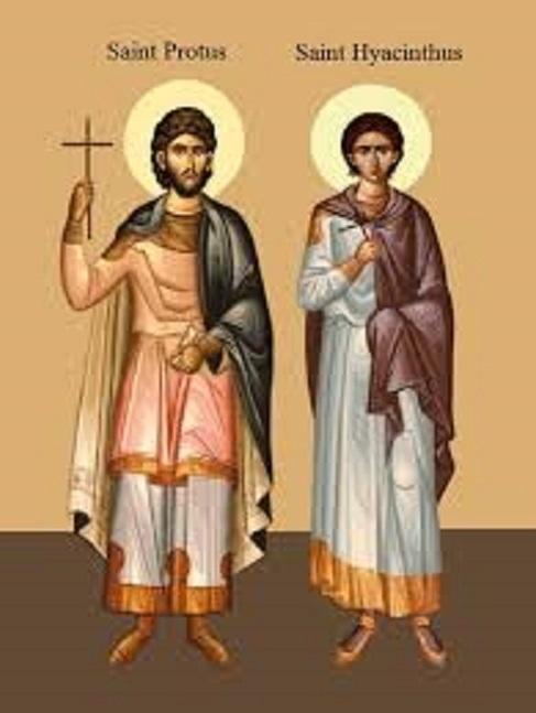 Svetac dana – Sveti Proto i Hijacint