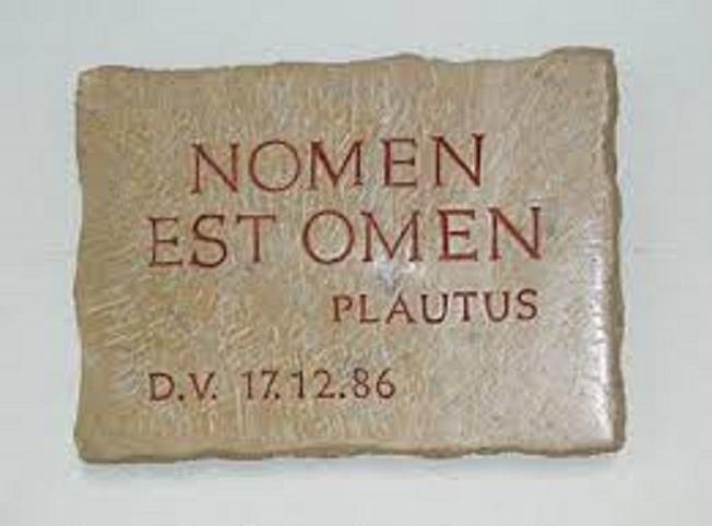 Nomen est omen - Ime je znak