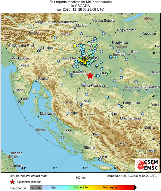 Potres u Zagrebu....